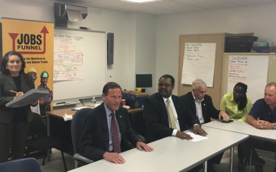 Senator Blumenthal Meets with Capital Workforce Partners Jobs Funnel Leaders