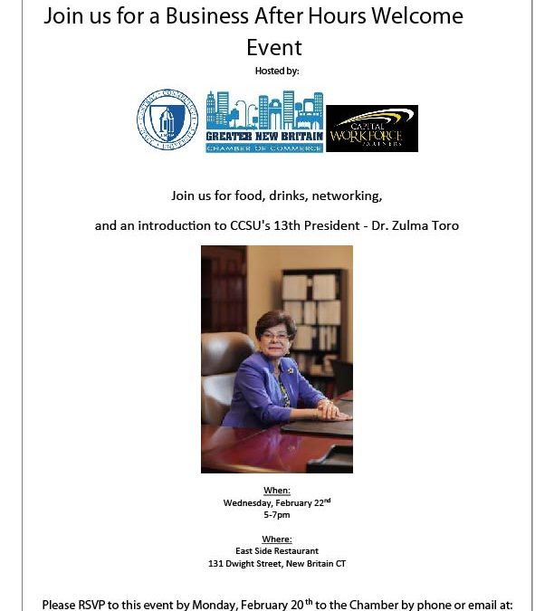 Invitation for Business After Hours Welcome Event