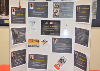 Photo of a presentation board at the HSIP event